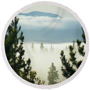 Into The Day Round Beach Towel