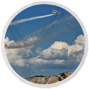 Into The Distance Round Beach Towel