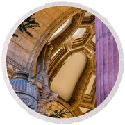 Into The Dome Round Beach Towel