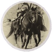 Into The Fray - Confederate Generals Round Beach Towel