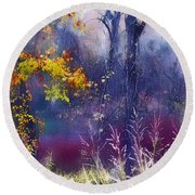 Into The Mist - A Dream State Round Beach Towel