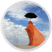 Into The Mystic 1 Round Beach Towel