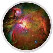 Into The Orion Nebula Round Beach Towel by Jennifer Rondinelli Reilly - Fine Art Photography