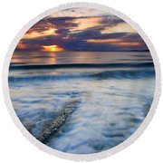 Into The Sea Round Beach Towel