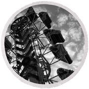 Into The Sky Round Beach Towel
