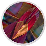 Into The Soul Round Beach Towel