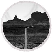 Into The Valley Of Monuments Round Beach Towel