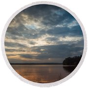Into The West Round Beach Towel