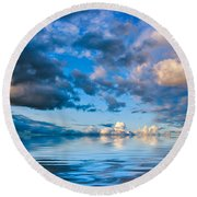 Into The Wild Blue Yonder Round Beach Towel