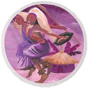 Intore Dance From Rwanda Round Beach Towel