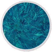 Intricate Blue Round Beach Towel