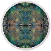 Intrigue Of Mystery Four Of Four Round Beach Towel