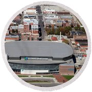 Intrust Bank Arena And Old Town Wichita Round Beach Towel