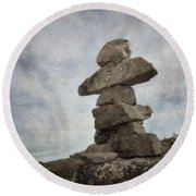 Inuksuk Round Beach Towel