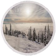 Inversion Sunset Round Beach Towel