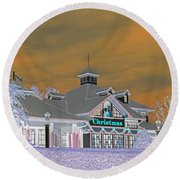 Invert Of The Apple Barn's Christmas Shop In Pigeon Forge Tennessee Round Beach Towel