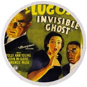 Invisible Ghost Round Beach Towel by Monogram Pictures