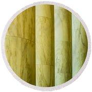 Ionic Architectural Columns Details Round Beach Towel