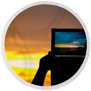 Ipad Photography Round Beach Towel
