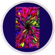 Iphone Cases Colorful Floral Abstract Designs Cell And Mobile Phone Covers Carole Spandau Art 159 Round Beach Towel