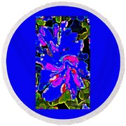 Iphone Cases Colorful Flowers The Blue Dahlia Abstract Floral Art Carole Spandau Cbs Exclusives 184 Round Beach Towel