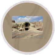 Iran Cave Office Round Beach Towel