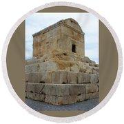 Iran Cyrus Tomb Pasargadae Round Beach Towel