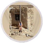 Iran Kandovan Resident  Round Beach Towel