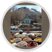 Iran Kandovan Spices Round Beach Towel
