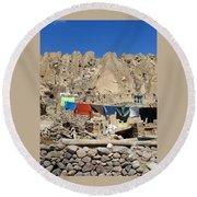 Iran Kandovan Stone Village Laundry Round Beach Towel