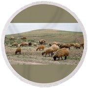 Iran Sheep Round Beach Towel