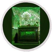 Iran Shiraz Mausoleum Round Beach Towel
