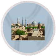 Iran Yazd From The Rooftops  Round Beach Towel