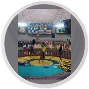 Iran Yazd House Of Strength  Round Beach Towel