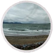 Ireland Atlantic Ocean Round Beach Towel