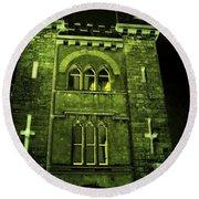 Ireland Church IIi Emerald Night Round Beach Towel