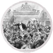 Ireland Election, 1857 Round Beach Towel