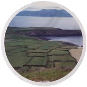 Ireland Emerald Isle Fields By Jrr Round Beach Towel
