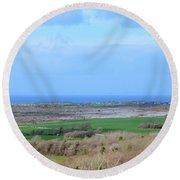 Ireland Landscape Round Beach Towel