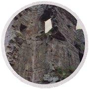 Ireland Minard Castle Ruins By Jrr Round Beach Towel