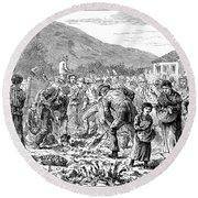 Ireland Peasants, 1886 Round Beach Towel