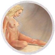 Irina Nude Round Beach Towel