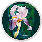 Iris 1 Round Beach Towel