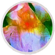 Iris 53 Round Beach Towel