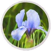 Pale Purple Iris - Impressions Of Spring Round Beach Towel