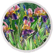 Iris Inspiration Round Beach Towel