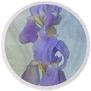 Iris Texture Round Beach Towel