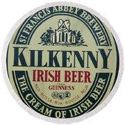 Irish Beer Round Beach Towel