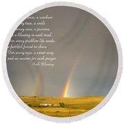 Irish Blessing Double Rainbow 07 11 14 Round Beach Towel