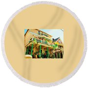 One Day In The Irish Channel Round Beach Towel